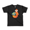 Pets In Tech Black / 2yrs Chrome DJ Firefox - Short sleeve kids t-shirt