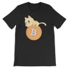 Pets In Tech Black Heather / S Bitcoin Cat - Short-Sleeve Unisex T-Shirt