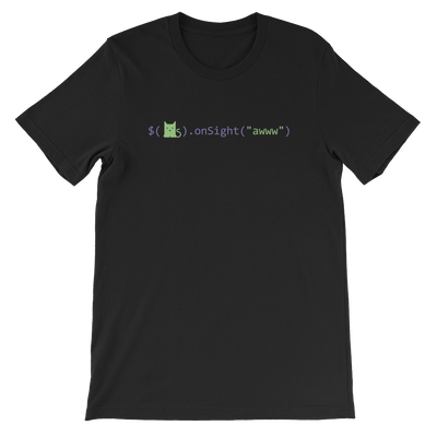 Pets In Tech Black / S Awww on sight Cat - Short-Sleeve Unisex T-Shirt