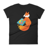 Pets In Tech Black / S Chrome DJ Firefox - Women's short sleeve t-shirt