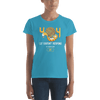 Pets In Tech Caribbean Blue / S 404 Cat Doesn't Respond - Women's short sleeve t-shirt