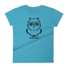 Pets In Tech Caribbean Blue / S Ascii Owl - Women's short sleeve t-shirt