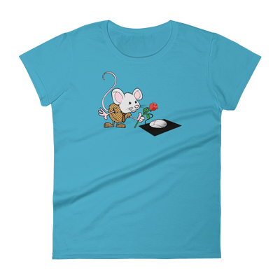 Pets In Tech Caribbean Blue / S Virtual Girlfriend Mouse - Women's short sleeve t-shirt