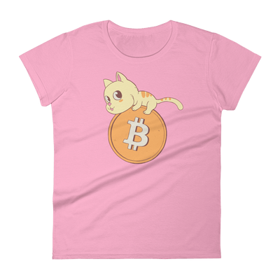 Pets In Tech CharityPink / S Bitcoin Cat - Women's short sleeve t-shirt