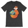 Pets In Tech Dark Grey Heather / S Chrome DJ Firefox - Short-Sleeve Unisex T-Shirt
