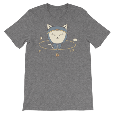 Pets In Tech Deep Heather / S App Ninja Cat - Short-Sleeve Unisex T-Shirt