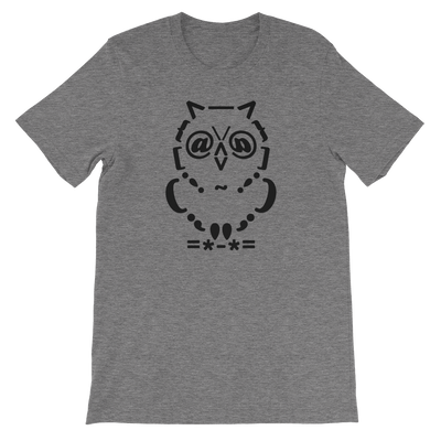 Pets In Tech Deep Heather / S Ascii Owl - Short-Sleeve Unisex T-Shirt
