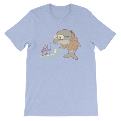 Pets In Tech Heather Blue / S Bubble Sort Dolphin - Short-Sleeve Unisex T-Shirt