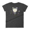 Pets In Tech Heather Dark Grey / S App Ninja Cat - Women's short sleeve t-shirt