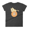Pets In Tech Heather Dark Grey / S Bitcoin Cat - Women's short sleeve t-shirt