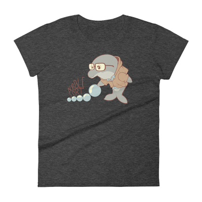 Pets In Tech Heather Dark Grey / S Bubble Sort Dolphin - Women's short sleeve t-shirt
