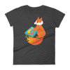 Pets In Tech Heather Dark Grey / S Chrome DJ Firefox - Women's short sleeve t-shirt