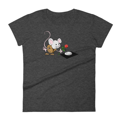 Pets In Tech Heather Dark Grey / S Virtual Girlfriend Mouse - Women's short sleeve t-shirt