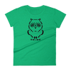 Pets In Tech Heather Green / S Ascii Owl - Women's short sleeve t-shirt