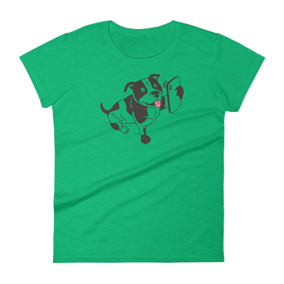 Pets In Tech Heather Green / S Selfie Dog - Women's short sleeve t-shirt