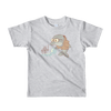 Pets In Tech Heather Grey / 2yrs Bubble Sort Dolphin - Short sleeve kids t-shirt