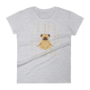 Pets In Tech Heather Grey / S 1s 0s Meditating Pug - Women's short sleeve t-shirt
