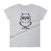 Pets In Tech Heather Grey / S Ascii Owl - Women's short sleeve t-shirt