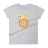 Pets In Tech Heather Grey / S Bitcoin Cat - Women's short sleeve t-shirt