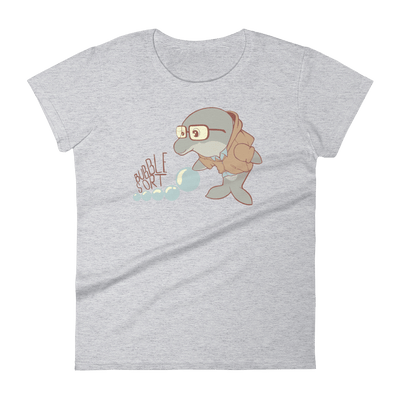 Pets In Tech Heather Grey / S Bubble Sort Dolphin - Women's short sleeve t-shirt