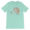 Pets In Tech Heather Mint / S Bubble Sort Dolphin - Short-Sleeve Unisex T-Shirt