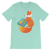 Pets In Tech Heather Mint / S Chrome DJ Firefox - Short-Sleeve Unisex T-Shirt