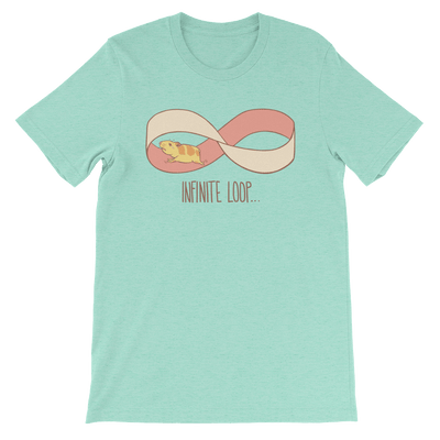Pets In Tech Heather Mint / S Infinite Loop Hamster - Short-Sleeve Unisex T-Shirt