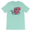 Pets In Tech Heather Mint / S Null Pointer Exception Squirrel - Short-Sleeve Unisex T-Shirt