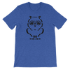 Pets In Tech Heather True Royal / S Ascii Owl - Short-Sleeve Unisex T-Shirt