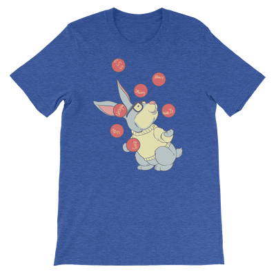 Pets In Tech Heather True Royal / S Web Developer Rabbit - Short-Sleeve Unisex T-Shirt