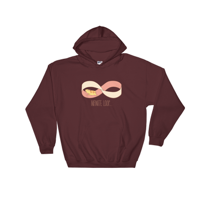Pets In Tech Maroon / S Infinite Loop Hamster - Hoodie