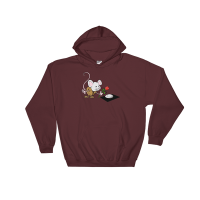 Pets In Tech Maroon / S Virtual Girlfriend Mouse - Hoodie
