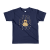 Pets In Tech Navy / 2yrs 1s 0s Meditating Pug - Short sleeve kids t-shirt