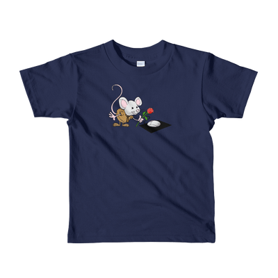 Pets In Tech Navy / 2yrs Virtual Girlfriend Mouse - Short sleeve kids t-shirt