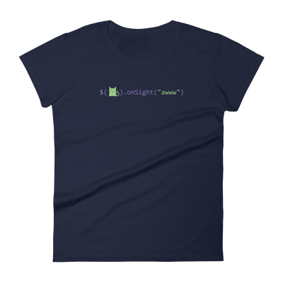 Pets In Tech Navy / S Awww on sight Cat - Women's short sleeve t-shirt