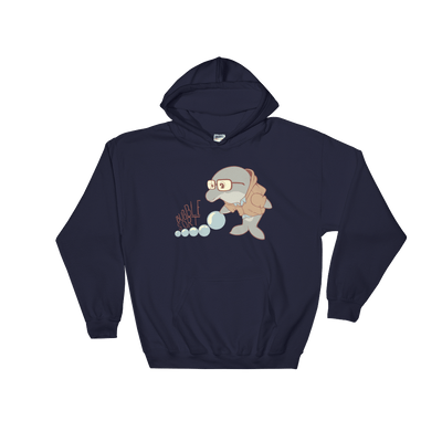 Pets In Tech Navy / S Bubble Sort Dolphin - Hoodie