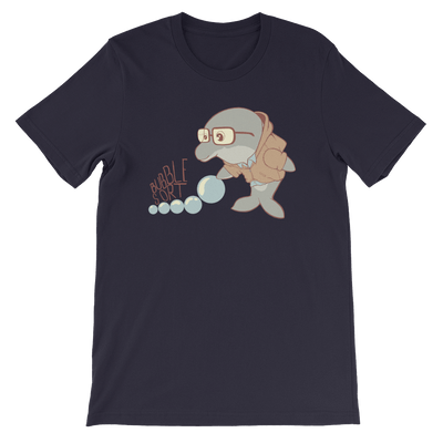 Pets In Tech Navy / S Bubble Sort Dolphin - Short-Sleeve Unisex T-Shirt