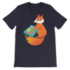 Pets In Tech Navy / S Chrome DJ Firefox - Short-Sleeve Unisex T-Shirt