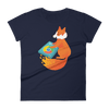 Pets In Tech Navy / S Chrome DJ Firefox - Women's short sleeve t-shirt