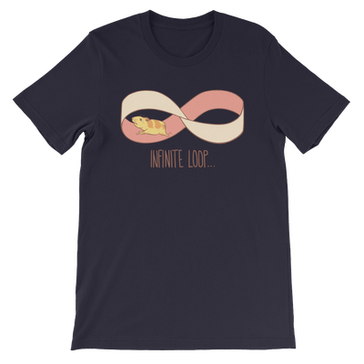 Pets In Tech Navy / S Infinite Loop Hamster - Short-Sleeve Unisex T-Shirt