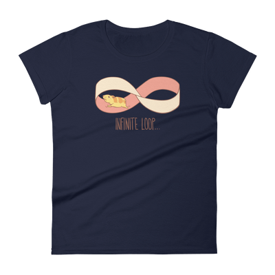 Pets In Tech Navy / S Infinite Loop Hamster - Women's short sleeve t-shirt