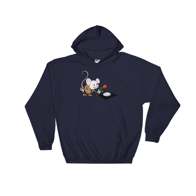 Pets In Tech Navy / S Virtual Girlfriend Mouse - Hoodie