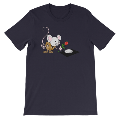Pets In Tech Navy / S Virtual Girlfriend Mouse - Short-Sleeve Unisex T-Shirt