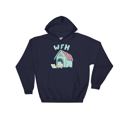 Pets In Tech Navy / S Work From Home Dog - Hoodie