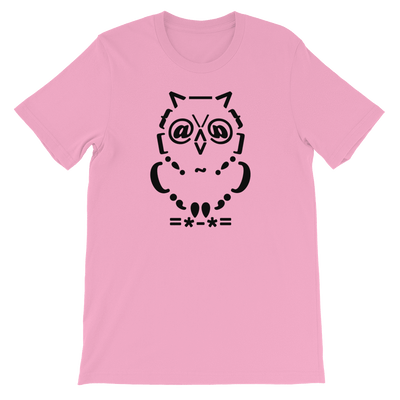 Pets In Tech Pink / S Ascii Owl - Short-Sleeve Unisex T-Shirt
