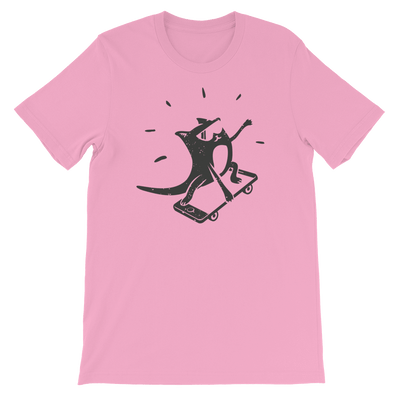 Pets In Tech Pink / S iPhone Skater Cat - Short-Sleeve Unisex T-Shirt