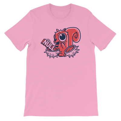 Pets In Tech Pink / S Null Pointer Exception Squirrel - Short-Sleeve Unisex T-Shirt