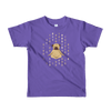 Pets In Tech Purple / 2yrs 1s 0s Meditating Pug - Short sleeve kids t-shirt