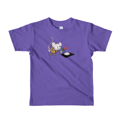Pets In Tech Purple / 2yrs Virtual Girlfriend Mouse - Short sleeve kids t-shirt