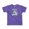 Pets In Tech Purple / 2yrs Work From Home Dog - Short sleeve kids t-shirt